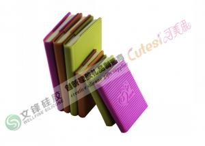 China Red , Purple , Green , Yellow Non-toxic Silicone Book Cover Notepad on sale
