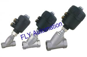 China 2000 Threaded Port 2/2 Way Angle Seat Valve Integrated PA Pneumatic actuator on sale