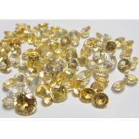 Round Natural Loose Gemstones Golden Yellow Sapphire AAA 0.8MM-2.0MM