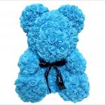 Teddy Bear with PE Roses Bouquet Flower  2020 New Models PE Flower Teddy Rose Bear Rose Flower  bear gift