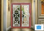Building Clear Beveled Glass Window Panels / Door Acid Etched Sound Insulation