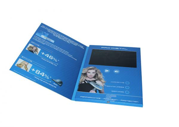 Four color printed video in print brochure with tft screen usb four color printed video in print brochure with tft screen usb port video business card images reheart Image collections