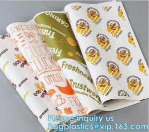 China New Waterproof Craft Color Print Gift Wrap A4 Fast Food Sandwich Products Wrapping Kraft Paper, on sale