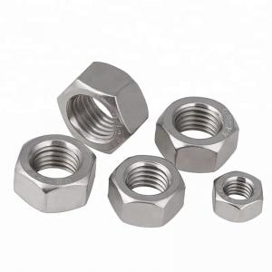 China Auto Parts Stainless Steel Hex Nuts Passivated Fine Thread Zinc Plated Finish on sale