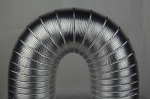 China Transparent Flexible Semi-rigid Aluminum Duct Hose Tube With Easy Installation on sale