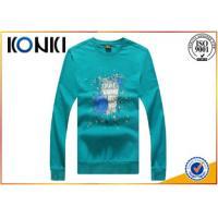 Elegant  Round Neck Custom T Shirt Long Sleeve Tees For Men 180g