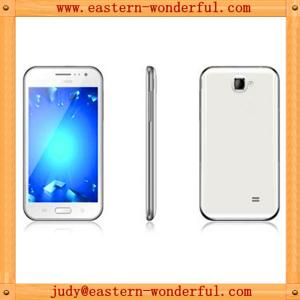 China 5'' mtk6577 logo smartphone android 3g dual sim with WIFI/blutooth/GPS/momery card slot on sale