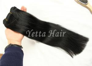 China Elegant  Straight Remy Hair Weave , Real Virgin Brazilian Hair No Foul Odor on sale