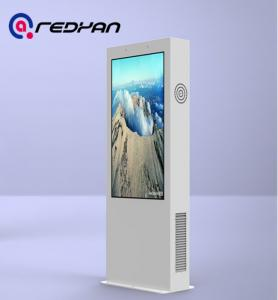 China FHD Display exterior digital signage Kiosk Sunlight Readable Sensor Management on sale