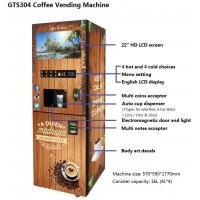 GTS304 Instant Coffee Vending Machine,Automatic Smart Vending Machine, Customized Vending Machine , Bill & Coin Oprated