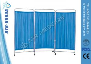 China Hospital Bed Accessories 3 Fold Stainless Steel Structure Screen on sale