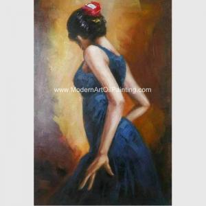 Hand Painted Spanish Oil Painting Female Painting Flamenco
