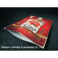 Heat Sealing 600 G Quad Seald Pet Food Pouch For Oatmeal Packaging