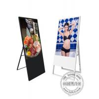 China 43 Inch Android OS Foldable Stand Portable LCD Digital Signage Commercial Display Restaurant Menu Board Ultra Slim Frame on sale