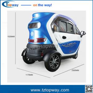 China Electrical tricycle for passenger 3-4 people closed cabin for disable people on sale