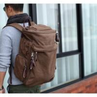 canvas and leather backpack,rucksack,school backpack, book bags,leisure bags for school