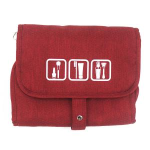China Durable Folding Travel Makeup Bag Toiletry Bags With Printing / Embroidery Logo on sale