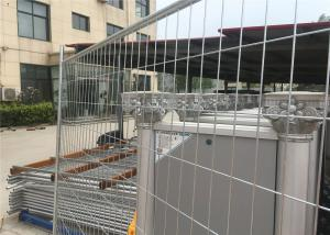 China Silver Color Temporary Residential Fencing / Chain Link Construction Fence on sale