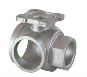 China Hydraulic Part Stainless Steel Casting Valve Part Pipe Fitting Joints Coupling Acid Washing on sale