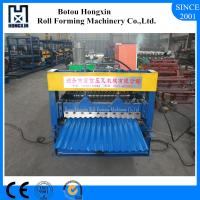 China Galvanized Plate Corrugated Sheet Roll Forming Machine 13 Rows Rollers on sale