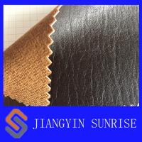 Jean Satin Car Seat Leather Upholstery , PU Coated Cow Split Leather