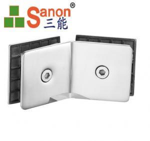 China Shower Door Hinge Stainless Steel Bathroom Fittings Glass Shelf Support Brackets on sale