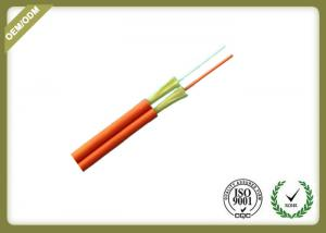 China 2 Core Indoor Fiber Optic Cable , Duplex Zipcord Single Mode Fiber Optic Cable on sale