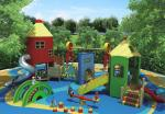 Themed KQ70027A Custom Playgrounds / Solid Wood Material Kids Playground Set