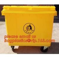 120l Plastic trash can plastic waste container plastic industrial bin, 1100L large plastic garbage trash bin, wheel bin