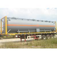 Heavy Duty Diesel Fuel Tank Trailer , Tri Axle Tanker Trailer 40000 50000 Liters