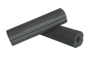 China Permanent Ferrite Bar Magnets Long Life Ferrite Rod Magnet For Welding Pipe on sale