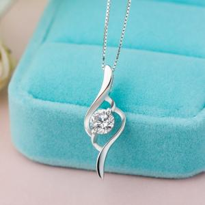 China 925 sterling silver beautiful in design silver gold plated various shape pendant necklace on sale