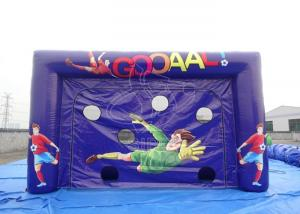 China Red & Blue Inflatable Soccer Game for Kids , Family Games Football Goals on sale
