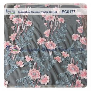China High Fashion Floral Embroidered Polyester Lace Fabric For Hot Summer Clothing on sale