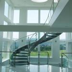 Good Price Commercial / Residential Stainless Steel Prefabricated Curved Stairs