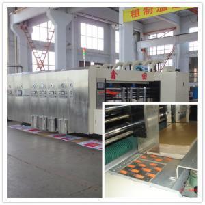 Quality High Speed Corrugated Sheet Flex Die Cut Sticker Printing Machine of Slotting Unit for sale
