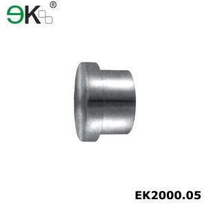 China Stainless steel end cap heavy duty sliding door shower hardware roller end piece-EK2000.05 on sale