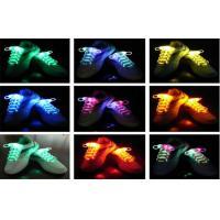 Eco - friendly Nylon LED Light Shoelaces In Purple , Green / Light Up Shoe Strings