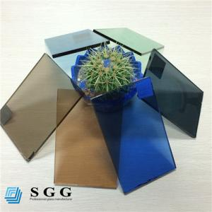 China Good price 4mm 5mm 5.5mm 6mm color dark blue green grey bronze tinted float glass factory on sale