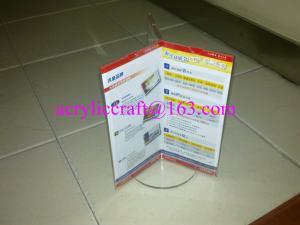 China Páginas de acrílico del tenedor 3 del cartel del claro de la tienda de la tabla del lucite para hacer publicidad on sale