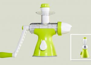 China Green Color Frozen Fruit Ice Cream Maker Manual Squeezing Without Additives on sale