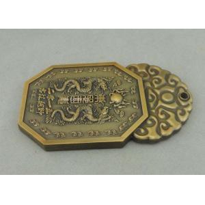 China Die Casting Souvenir Badges Pewter Antique Gold 3D Club Pin Badges Promotional on sale