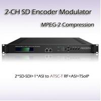 REM7204 Two-Channel SD-SDI TO ATSC MPEG-2 SD Encoding Modulator
