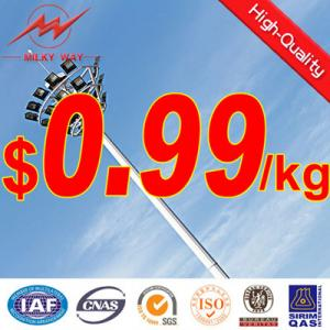 China Q345 Steel galvanized 15-55m high mast lighting with good price,nice design on sale