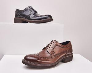 Quality Classic Wedding Leather Mens Shoes , Lace Up Mens Casual Leather Shoes for sale
