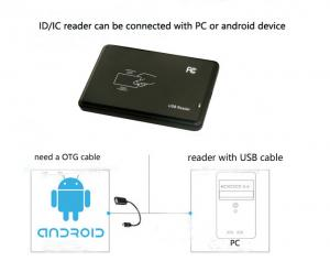China 13.56mhz rfid Reader support read different format output  of card UID number with Usb Keyboar Emulation on sale