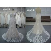 Embroidery Appliques Vintage Lace Sweetheart A Line Wedding Dress Pure White Bridal Wear