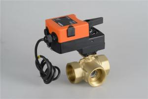 China 3 Way Modulating Control Ball Valve Motor Operated AC220V Excellent Work Performance on sale