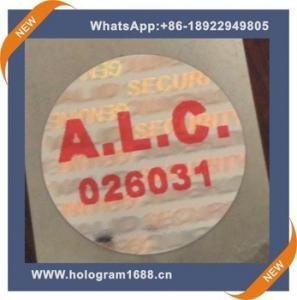 China Laser hologram waterproof  anti-fake label  sticker, custom tamper proof hologram stickers on sale