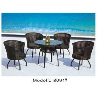 China 6pcss swivel patio wicker dining chairs -8091 on sale